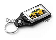 WickedKarz Cartoon Car Vauxhall Corsa E 2015+ VXR/SRi in Yellow Key Ring