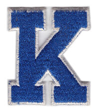 "KENTUCKY WILDCATS NCAA COLLEGE 2.25"" LETTER K PATCH"
