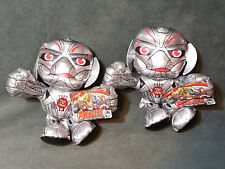 """Two NWT ULTRON 8"""" Avengers Age Of Ultron Talking Plush Figures Marvel Just Play"""