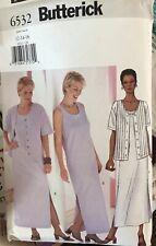 Butterick pattern 6532 Misses'/Miss Petite Jacket & Dress size 12, 14, 16 uncut