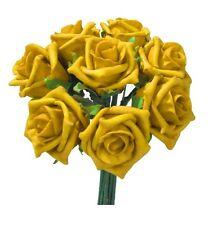 Foam Rose gelb 30 Stück Kunstrosen Dekorosen Schaumstoff Rosen