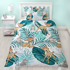 Bambi Palm Leaf Single Rotary Duvet Set Kids Reversible Official Bedroom