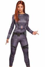 Black Widow Costume Avengers Adult Sexy Natasha S 6-10, M 10-14, L 14-16 - Fast