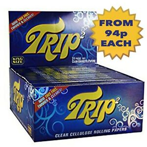 TRIP 2 Transparent Clear Papers Cellulose Hand Rolling Paper Tobacco PICK AMOUNT