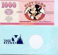Tokyo Disneyland DisneySEA Gift Card Mickey 1000Yen Disney Dollar Japan Rare AIR