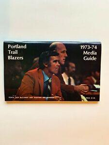 1973-74 Portland Trail Blazers Media Guide