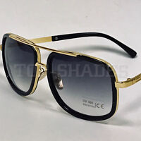 Aviator Square Fashion Designer Gold Frame Bar Men Women Shades Sunglasses NEW
