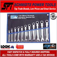 SP Tools Spanner Set Flexhead Geardrive Roe Metric 11pc