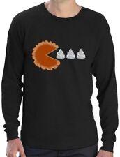Thanksgiving Pumpkin Pie & Cream Retro Long Sleeve T-Shirt Gamers