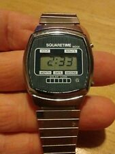 Vintage 1970's Squaretime Digital Men's watch, running with new battery L
