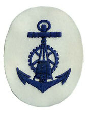 Kriegsmarine Blocking Weapons NCO Trade Badge - WW2 Repro Patch Navy Sailor New