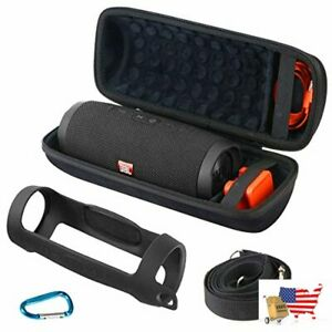 Khanka Hard Travel Case + Silicone Case for JBL Charge 4 Portable Waterproof Wir