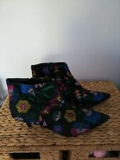 Floral Kitten Heal Boots 6 By Primark