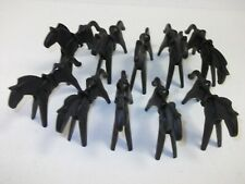 Playmobil 10 Black Horse with Saddle for Indians Cowboys Knight Klicky