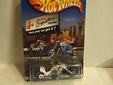 Hot Wheels Jiffy Lube White Blast Lane Motorcycle