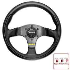 MOMO Team Steering Wheel 280mm - Black Leather