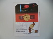 advertising Pubblicità 1985 OROLOGIO BAUME E MERCIER
