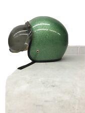 D-9611 Blue Helmet Metal Flake Medium 1966 Open Face Japan AMA Shoei,Buco Harley