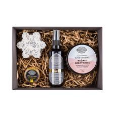 Christmas Gift For Her Natural Body Butter Face Toner Lip Balm Handmade Soap Set