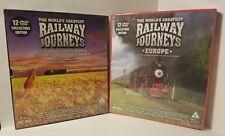 Lot Collector's Edition DVD Sets, Railway Journeys Europe & USA-Australia,SEALED