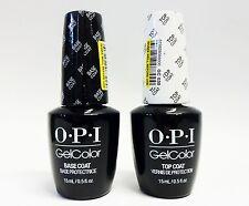 OPI Nail GELCOLOR Gel Color Base Coat + Top Coat .5oz/15ml ~2CT~!! SUPER SALE!!!