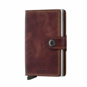 Secrid Men Mini Wallet Genuine Leather Vintage black RFID Safe Card Case max...
