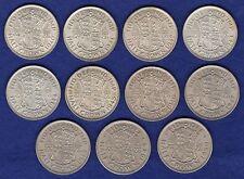 GB, George VI, Halfcrown, 1940-50, 11 Coins inc Silver, High Grade (Ref. t0484)