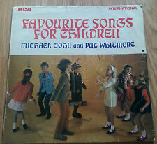 Michael John & Pat Whitmore - Favourite Songs for Children - RCA INT 1041 (1969)