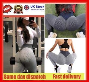 Tik Tok Women Gym Anti Cellulite Yoga Pants Butt Lift Leggings Sport Trousers UK