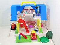 Little Tikes Place Dollhouse Cozy Coupe Blue Roof Family Playset