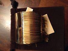 Michael Kors Seaside Luxe bangle bracelet gold tone fringe MKJ 2669  NWT