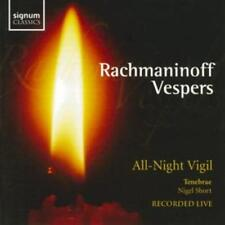 Sergei Rachmaninov : Vespers Op. 37 (Short, Tenebrae) CD (2005) ***NEW***