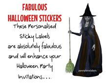 HALLOWEEN LADIES Personalised Sticky Labels Birthday Halloween Party Bag Sticker