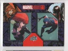 2017 Marvel Annual patch card Dcp-15 Black Widow / Ultimate Spider-man Sp