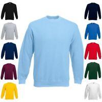 FRUIT OF THE LOOM Sweatshirt  Set-In Rundhals langarm - S M L XL XXL 3XL (0)