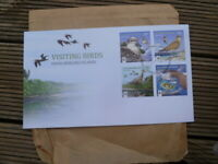 BEAUTIFUL COCOS KEELING ISLANDS VISITING BIRDS WWF FIRST DAY COVER