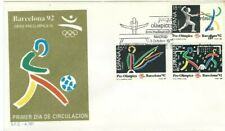 Spd Fdc First Day Cover Spain Edifil #3025-3027 Great Britain British Sport