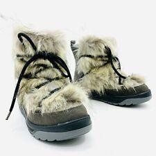 Oscar Sport Anet Short Gray Fur Boots Womens Size EU 37 / US 7