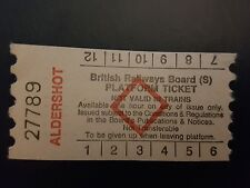 BR Aldershot paper platform ticket