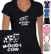 Funny T-shirt Moody Cow  Singlet Ladies Women's Designs size Grumpy mum t shirt