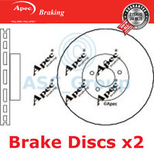 2x Apec Braking 355mm Vented OE Quality Replacement Brake Discs (Pair) DSK2623