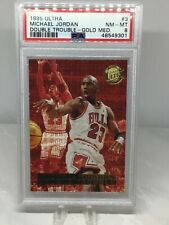 1995 Ultra Double Trouble Gold Medallion #3 Michael Jordan PSA 8