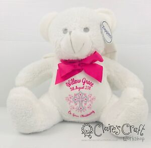 Personalised Angel Teddy Bear for Christening or First Holy Communion