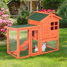 PawHut Deluxe Rabbit Hutch House Wooden Wood Cage Animal Run Habitat Waterproof