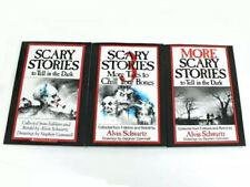 Scary Stories to Tell in the Dark 3 Book Set Halloween Alvin Schwartz Movie NEW