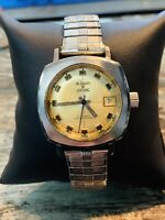 RARE VINTAGE WATCH LEJOUR JURVAC AUTOMATIC DATE 10ATM W.R.SWISS MADE