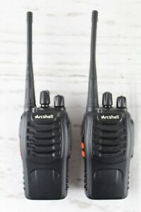 Arcshell AR-5 Two-Way Radios UHF FM Transceivers Walkie Talkies x 2 NO Chargers
