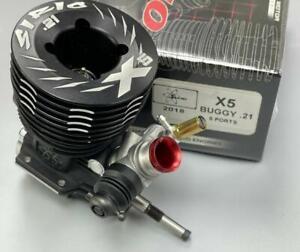SIRIO X5 5ports 3.5cc .21 Nitro Ceramic 1/8 Off-road Buggy engine