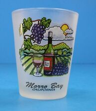 MORRO BAY, California, Vintage Shot Glass Wine Grapes Excellent Condition