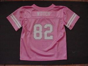 NWT Jason Witten 82 Jersey Toddler Dallas Cowboy MESH Pink Glitter Sz 3 3T
